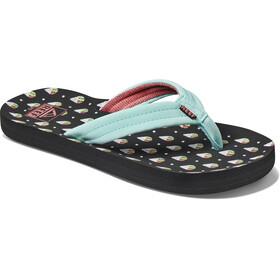 Reef Ahi Sandals Girls, negro/azul